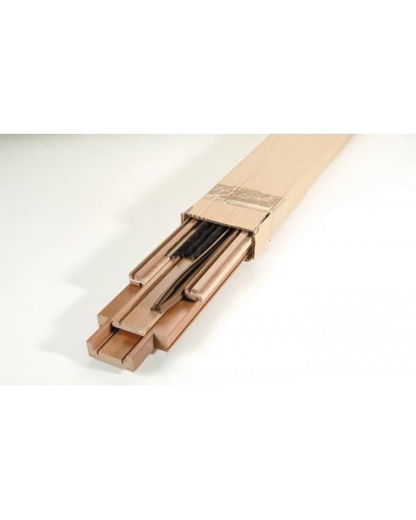 Kit stipite piatto rovere per porte scorrevoli cm 10 8 e 12 5 brico legno pi - Spazzole per porte scorrevoli ...
